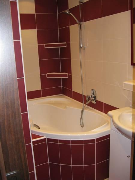 Přestavěná koupelna v panelovém domě